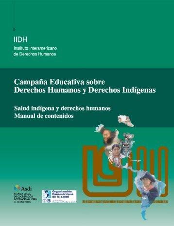 Salud indígena y derechos humanos. Manual de contenidos - IIDH