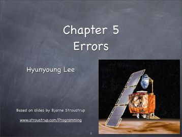 Chapter 5 Errors - TAMU Computer Science Faculty Pages