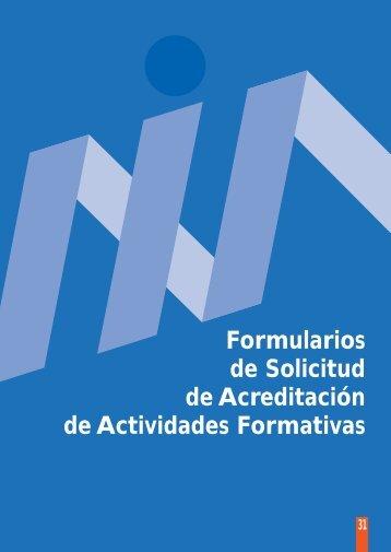 Formularios de solicitud de acreditación de actividades formativas