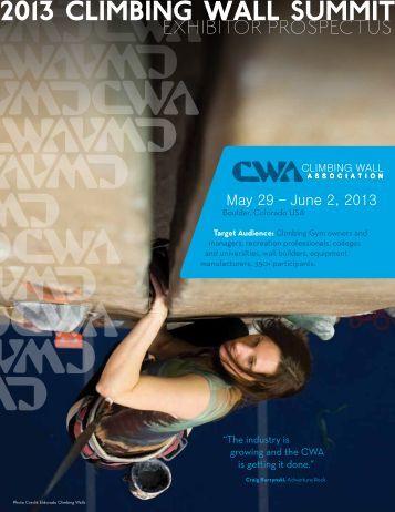 Exhibitor Prospectus - Climbing Wall Association