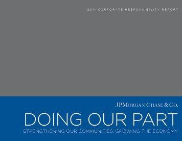 2011 Corporate Responsibility Report - JPMorgan Chase