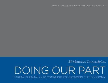 2011 Corporate Responsibility Report - JPMorgan Chase