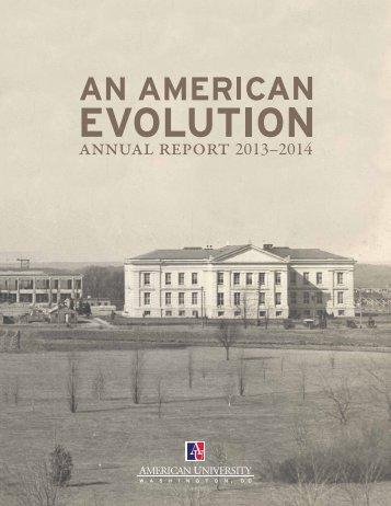 An American Evolution: American University Annual Report 2013-2014