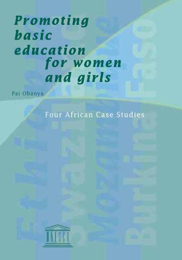 Promoting basic education for women and girls ... - library.unesco-ii...