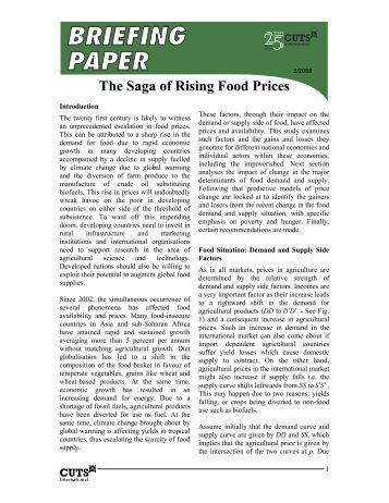 rising food prices essay Largely a result of the drought, rising food prices have also contributed to a   poverty and famines: an essay on entitlement and deprivation.