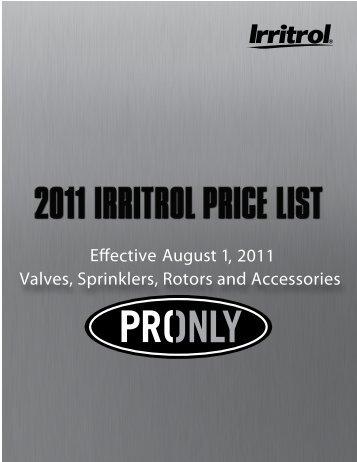 Irritrol Price List - Rain Master Control Systems