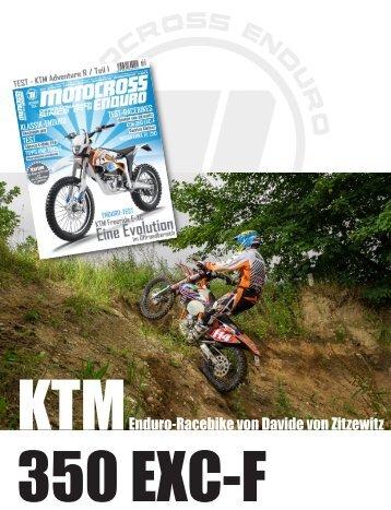 Test - KTM EXC-F 350 - Enduro-Racebike von Davide von Zitzewitz