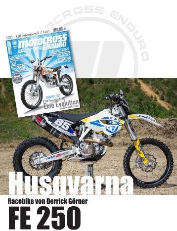 Test - Husqvarna FE 250 - Enduro-Racebike von Derrick Görner