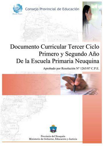 Documento Curricular Tercer Ciclo Primero y Segundo Año De la ...