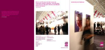 Information for Galleries 'Now in its 17th year, the ... - London Art Fair