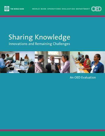 Sharing Knowledge - ISBN: 0821357123