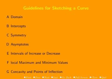 Guidelines for Sketching a Curve