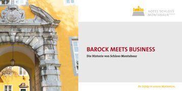 BAROCK MEETS BUSINESS - Hotel Schloss Montabaur