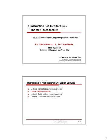 mips instruction set architecture