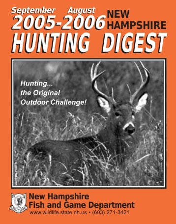 HUNTING DIGEST - New Hampshire Fish and Game Department