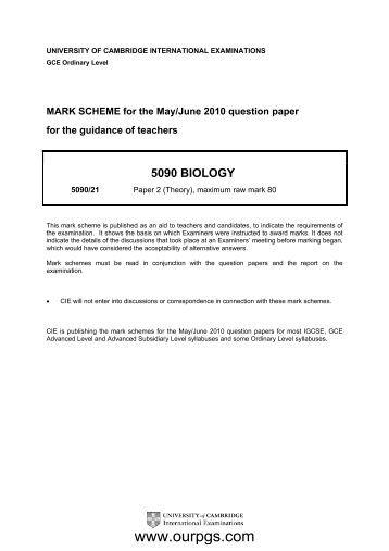 biology edexcel june 2014 unofficial mark scheme