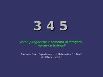 Conferenza Mathesis Riccardo Ricci - Dipartimento di Matematica e ...