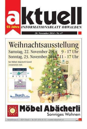 Aktuell Obwalden 47-2014