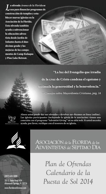 Plan de Ofrendas-Calendario de la Puesta de Sol 2013 - Media