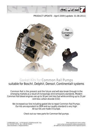 2009-04 Gasket Kits CR Pumps - SEVEN DIESEL SpA