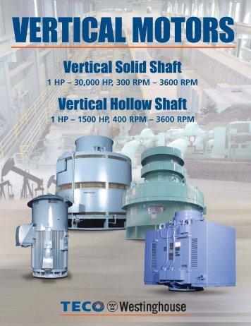 Vertical Motor Brochure - TECO-Westinghouse Motor Company