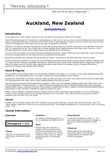 Auckland, New Zealand - Travel Guides