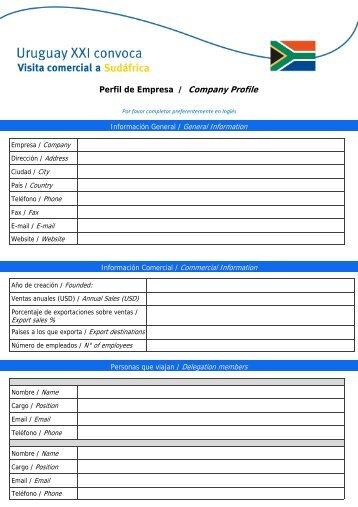 formulario de inscripción - Uruguay XXI