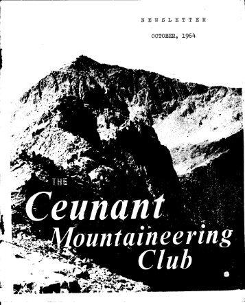 October 1964 - Ceunant Mountaineering Club