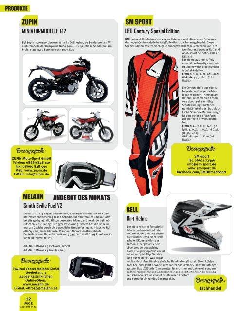 Motocross Enduro-Produkte 12/2014