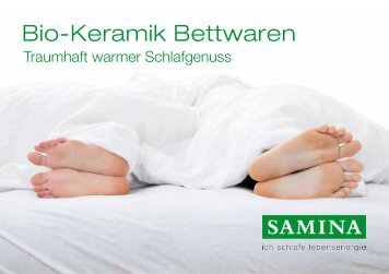 SAMINA Schlaftipps - Bio-Keramik Bettwaren