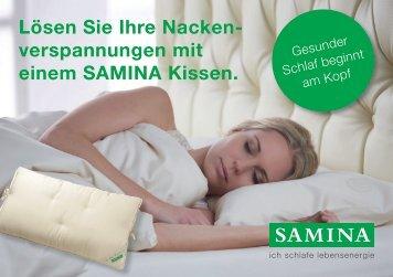 SAMINA Schlaftipps - Lösen Sie Ihre Nackenverspannungen mit einem SAMINA Kissen.