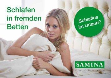 SAMINA Schlaftipps - Schlafen in fremden Betten