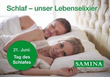 SAMINA Schlaftipps - Schlaf – unser Lebenselixier