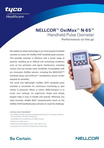 nellcor oximax n 65 manual