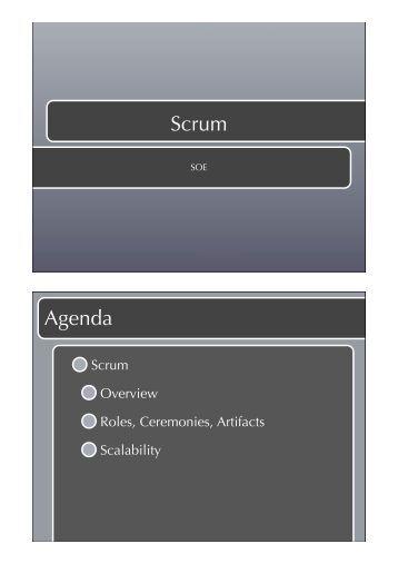 Scrum Agenda