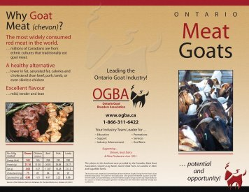 Why Goat - Ontario Goat Breeders Association