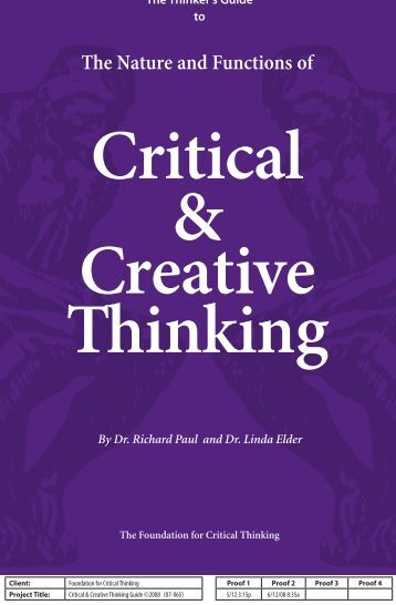 The Thinker s Guide for Students on How to Study   Learn a Discipline   Using Critical Thinking Concepts   Tools by Richard W  Paul