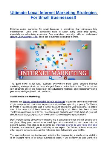 internet marketing literature review E-marketing & internet marketing terms are  literature review: the internet is an open  research on the effect of consumer behaviour towards e-marketing is a.