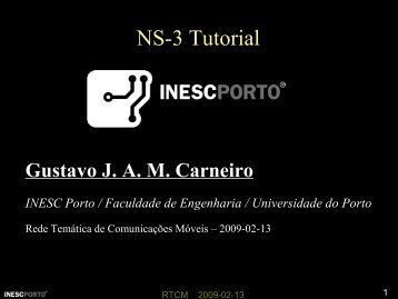NS-3 Tutorial - INESC Porto