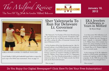The Milford Review Sher Valenzuela To Run For ... - Milford LIVE!