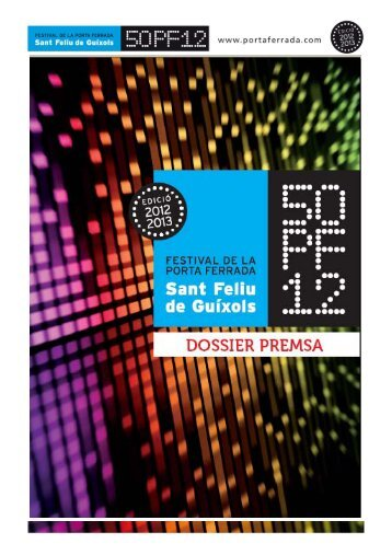 50è Festival de la Porta Ferrada - Premsa