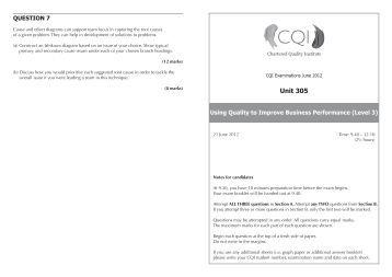 U305 June 2012 Exam Paper