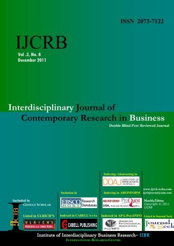 interdiscriplinary journal of contemporary research business Ijcrbwebscom march 2012 interdisciplinary journal of contemporary research in business vol 3, no 11 social capital and rural households welfare in surulere local government area, oyo state, nigeria olawuyi, seyi olalekan and oladele, sesan emmanuel department of agricultural economics, ladoke akintola university of technology, pmb 4000, ogbomoso, oyo state, nigeria.