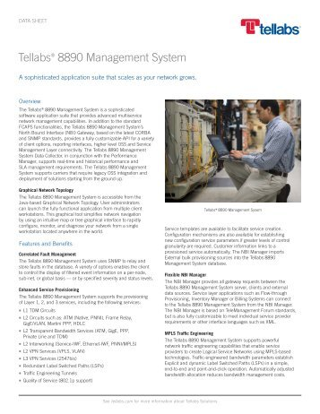 Tellabs 8890 Management System