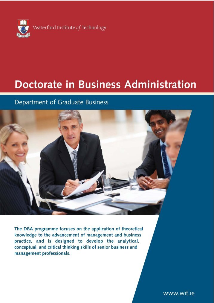 thesis for doctorate in business administration Prepare to lead a company with a doctor of business administration doctor of business administration degree our doctor of dissertation in the.
