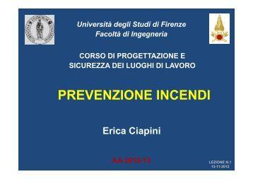 PSLL VVF Lezione n.1.pdf - Università degli Studi di Firenze