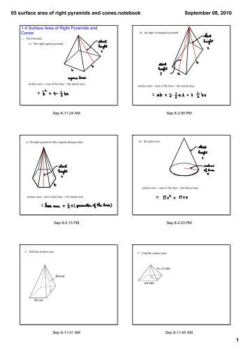 surface area of square pyramid math worksheets for kids. Black Bedroom Furniture Sets. Home Design Ideas