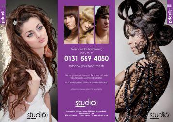 Studio Prices (level 3 students) - Edinburgh's Telford College