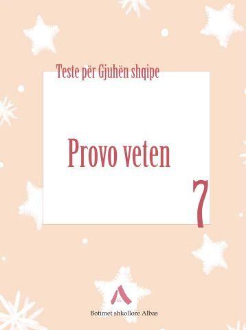 Testet Gjuha Shqipe 7 - Albas