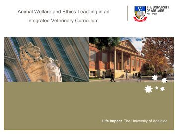 Animal Welfare and Ethics in an integrated Veterinary Curriculum